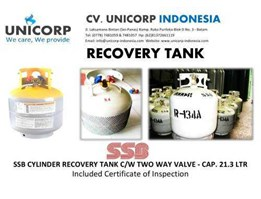 Jual SSB Recovery Cylinder Tank