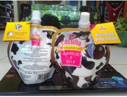 Jual CASTELLA WITHENING BODY LOTION ALMOND OIL AND MILK