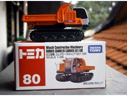 Tomica # 80 hitachi construction machinery rubber crawler carrier EG110R