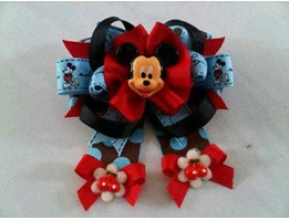 HAIRBOW MICKEY CHERRY