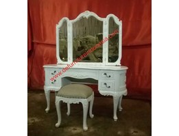 Furniture Jepara 3 Mirror Fly Dressing table Furniture indonesia   defurnitureindonesia DFRIDT-30