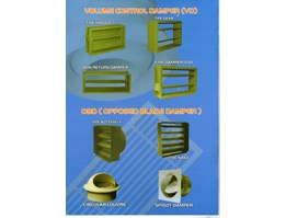 Jual VOLUME DAMPER & OPPOSED BLADE DAMPER