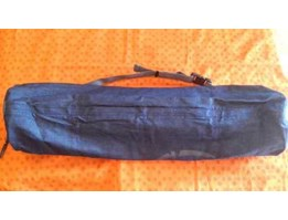 Yoga shop Bali Bag yoga mat bahan jeans_ UNIQUE YOGA MAT SHOP BALI