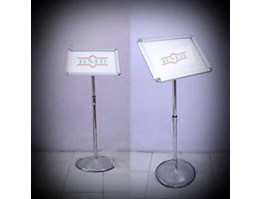 standing signage | floor standing sign | standing poster | notice holders | tiang display | poster frame | Standing Barrier | tiang display A3