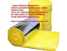 Jual GLASSWOOL, ROCKWOOL, INSULATION, ALUMINIUM FOIL, ROOFMESH DLL, DI SURABAYA