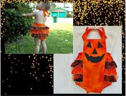 Jual CUTE HALLOWEEN BABY OVERALL