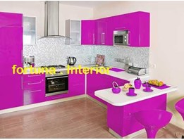 Jual KITCHEN SET purple - white