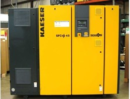 KAESER SFC 45 VARIABLE FREQUENCY CONTROL AIR COMPRESSOR 291 CFM 125 PSI