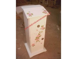 Indonesia Furniture, Place Telephone with flower painting, antique furniture, painted furniture | CV. DE EF INDONESIA Defurnitureindonesia DFRIO - 17