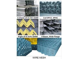 Jual MENJUAL; C CHANE, COIL SPCC, SPHC, ANGLE, H BEAM, WIDE FLANGE, WIRE MESH