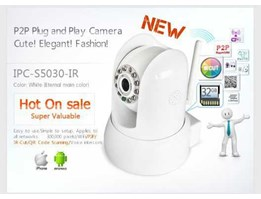 IP CAMERA P2P SUPPORT SD CARD 32 GB TWO WAY AUDIO - MICROPHONE & SPEAKER SUPPORT IPHONE/ IPAD/ ANDROID/ COMPUTER