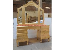 Jual Jepara furniture Mebel Princess Gold Dressing Table, Antique furniture Design By CV. DE EF INDONESIA Defurnitureindonesia DFRIDT - 35