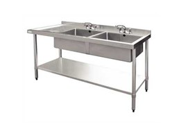 Jual Double Bowl Sink table stainless steel