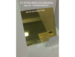 Jual Plat Stainless Mirror Gold 304 & 201