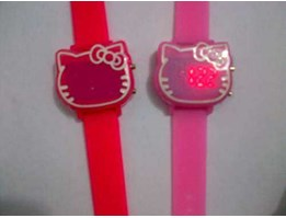 Jual Jam tangan Hello kitty LED