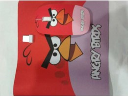 Jual Mouse wireless + mouse pad Angry bird