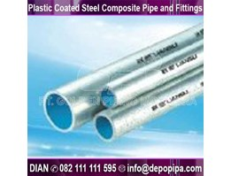 Jual Plastic Coated Steel Composite Pipe and Fittings