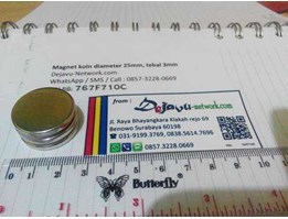 Magnet / Magnit Neodymium coin diameter 25mm, tebal 3mm