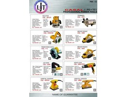 Jual PW-13 CASAL POWER TOOLS ROUTER, TRIMMER, MARBLE CUTTER, PASAH, POTONG KAYU, JIGSAW, ORBITAL SANDER, HEAD GUN PROFESSIONAL POWER TOOLS