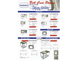 Jual kitchen sink stainless steel