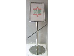 Satnding poster | standing signage | standing display | tiang display stainless | signage | standing barrier | tiang antrian stainless