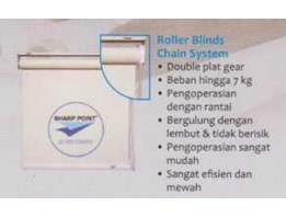Jual Roller Blind Sharp Point Chain Standard