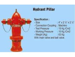 Jual HYDRANT PILLAR, HYDRANT PILLAR TWO WAYS With Main Valve With Ball Valve Model: Machino & VDH Type: H-14AP Size: 4  x 2, 5  x 2, 5 .