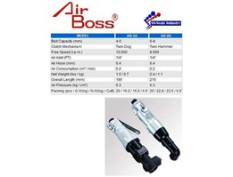 AIR BOSS 1/ 4 AIR IMPACT SCREWDRIVER ( Angle Type )