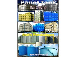 Jual BioSeven Panel tank, Tangki panel, Roof tank, Square / Cylinder bolted tank 2Jt an