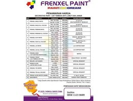 Jual Frenxel Paint Cat Interior Exterior