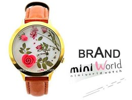 Jual 003 Mini World Jam Tangan Brown Flower