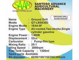 Jual MESIN BOR TANAH - GROUND DRILL