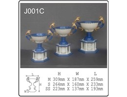 Jual Porcelain Trophies with Porcelain Base J001C