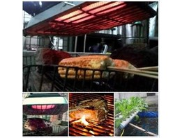 Pemanggang Infra Red [ Biogas] - Barbeque Grill [ Biogas Fuel]