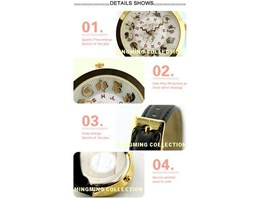 Jual 1328 Mini World Jam Tangan Zodiak ( Warna Hitam dan Coklat )