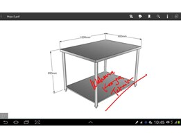 Jual Table Stainless Steel SS 304 1200 x 900 x 850mm