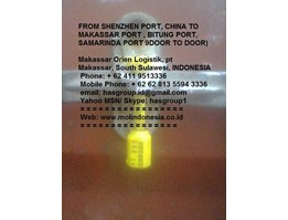 Jual CHINA TO INDONESIA, DOOR TO DOOR ex Shenzhen to Bitung, Shenzhen to Samarinda, Shenzhen to Makassar port, Indonesia