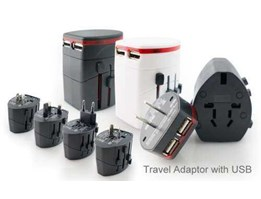 Jual Travel Adaptor with USB TA01