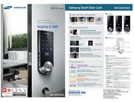 Jual Samsung Digital Door Lock SHS 3320 & SHS 3321 ( RFID card & Pin )