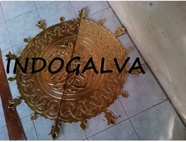 Jual Ornamen Kuningan Center Circle Replika Pintu Masjid Nabawi