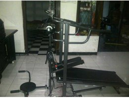 Jual tredmil manual steper + massager