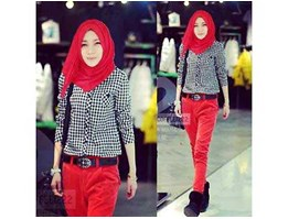 HK5726 Square Top with Pashmina