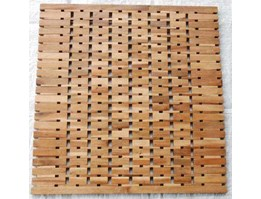 Wooden bathmat