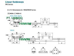 Jual Linear Guideway seri MG for Light weight