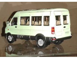 diecast 1: 43 scale IVECO pale green color medium bus