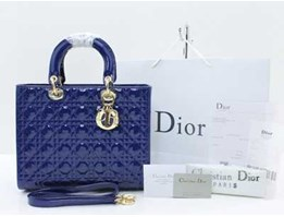 Jual Tas Christian Dior Cannage Large Patent