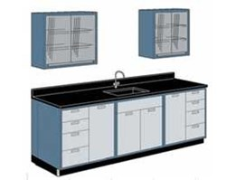 Wall Bench Sink and Rack