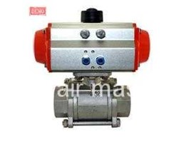 THREE PIECE PNEUMATIC THREAD BALL VALVE