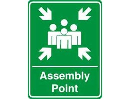 Jual K1501013 Assembly Point 600 x 400 mm, Safety Sign