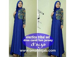 Jual Busana Muslim Dress Electrica Tribal Set